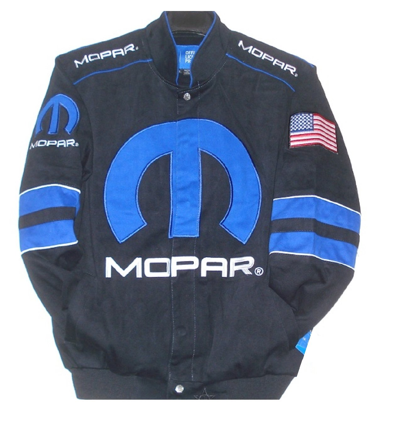 Dodge Mopar Embroidered Cotton Jacket black JH Design Generic S