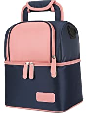 Meich Breast Milk Baby Bottle Cooler Bag/Waterproof Baby Milk Bag Freezer/Mommy Travel Backpack/Portable Thermal Insulated Lunch Box for Women Men Kids Large Capacity Handbag