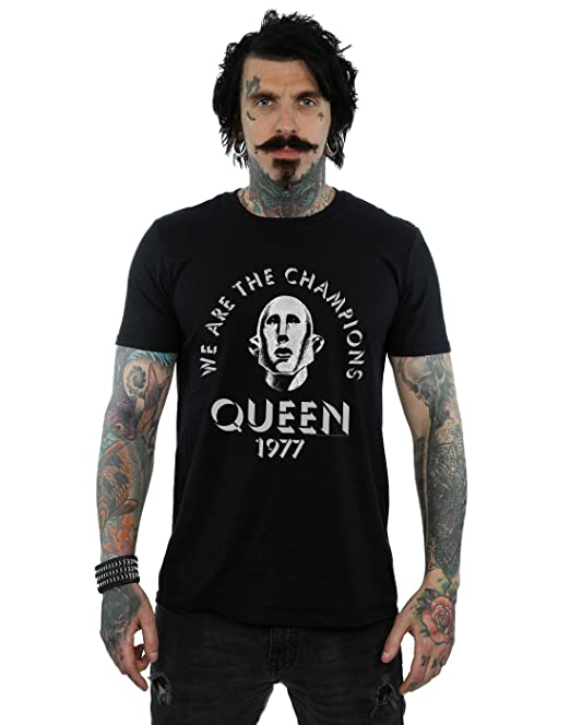 Absolute Cult Queen Hombre We Are The Champions Camiseta: Amazon.es: Ropa y accesorios
