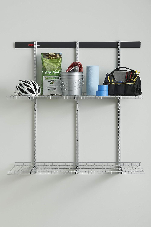 Wire Shelving Kit x 16 in Rubbermaid FastTrack Garage 2-Shelf 48 in