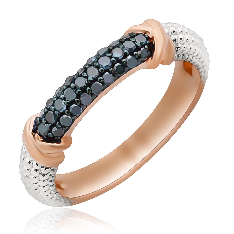 Goldenstar 0.26Ct Blue Natural Diamond /& Diamond Effect Wedding Band 925 Sterling Silver