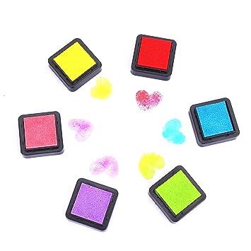 1 Set Kinder 6 Farben Stempelkissen Tinte Pads Stempel Stamp Pad Fingerdruck