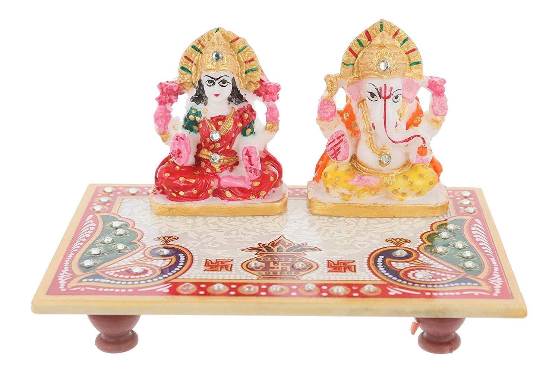 Buy Deepawali Laxmi Ganesh Ji with Choki poojan Ganeshalaxmi Pooja ...