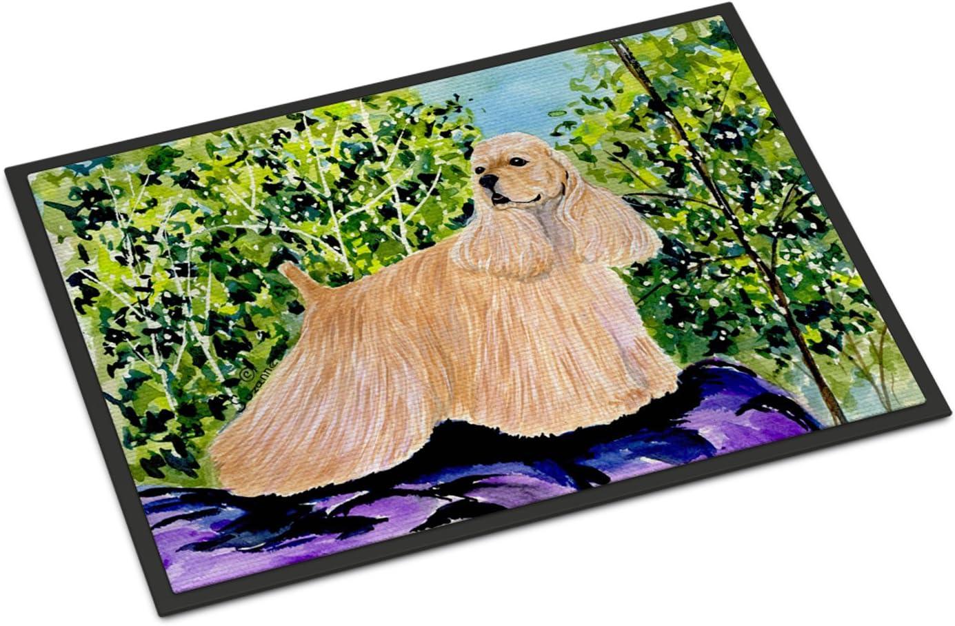 Caroline s Treasures SS8668JMAT Cocker Spaniel Indoor or Outdoor Mat 24×36 Doormat, 24H X 36W, Multicolor