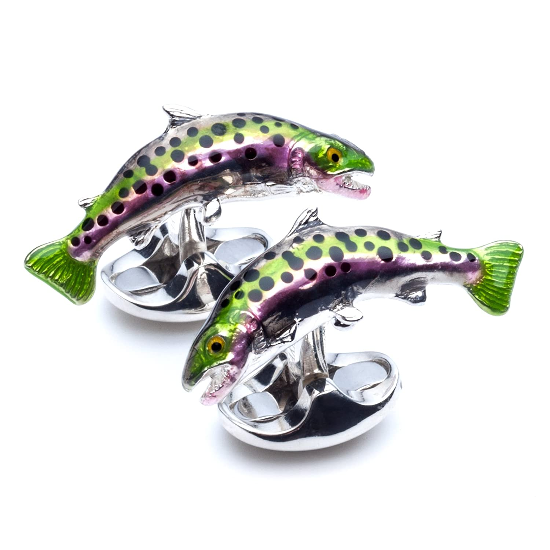 ディーキンand FrancisメンズTrout Fish Cufflinks B077VVKPY9