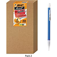 BIC Xtra Sparkle Mechanical Pencil, Colorful Barrel, Medium Point (0.7 mm), 48-Count, 2 Pack