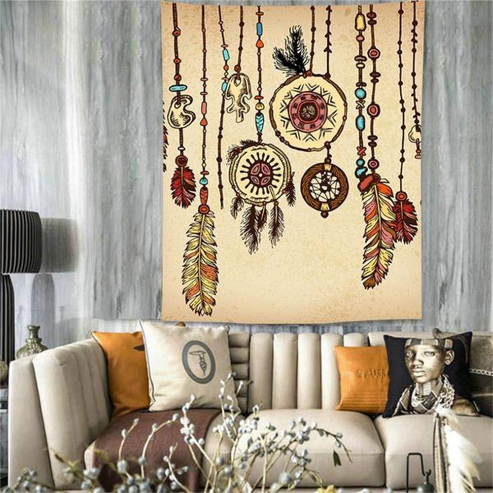 PYHQ HD Cacciatore di sogni Arazzi e tappezzeria Parete appesa bohemien e hippy boho tenda arte muraria Floreale Coperta da picnic telo mare tappetino yoga Letto Piuma indiana