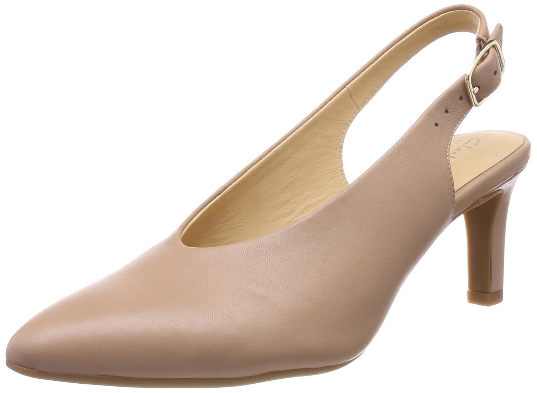 Clarks Calla Violet, Zapatos de Talón Abierto para Mujer 40 EU|Beige (Beige Leather)