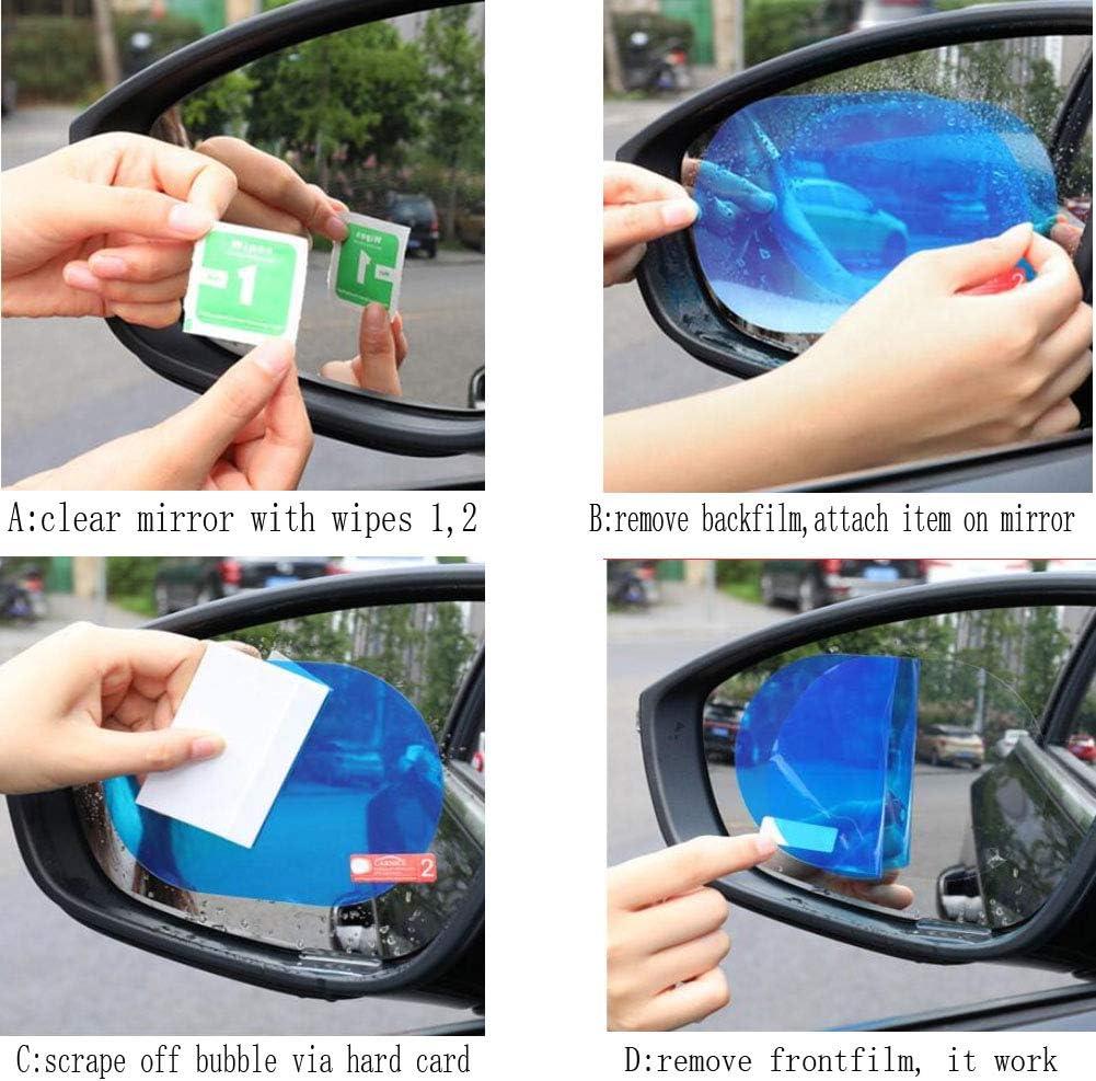 ZXH F/ür Seitenspiegel Auto PET-R/ückspiegel Schutzfenster Clear Anti-Fog Wasserdichten Regen Schild-Film for Toyota Corolla 2007-2013 Alt