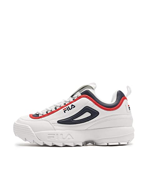 Fila Scarpa Uomo MOD. 1010575 White Navy Red