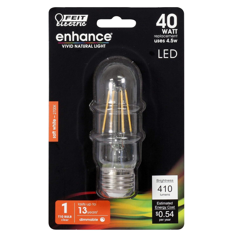 Frost 2700K CEC Compliant Pack of 30 40 Watt Equivalent Dimmable Medium Base 300 Lumen Tubular T10 Feit Electric Filament LED