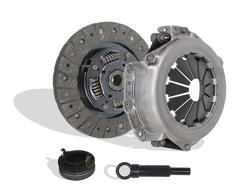 Clutch Kit Seco Works With Hyundai Accent Gl Gls L Se Sr Gt Base Sedan Hatchback 2001-2008 1.6L L4 GAS DOHC Naturally Aspirated