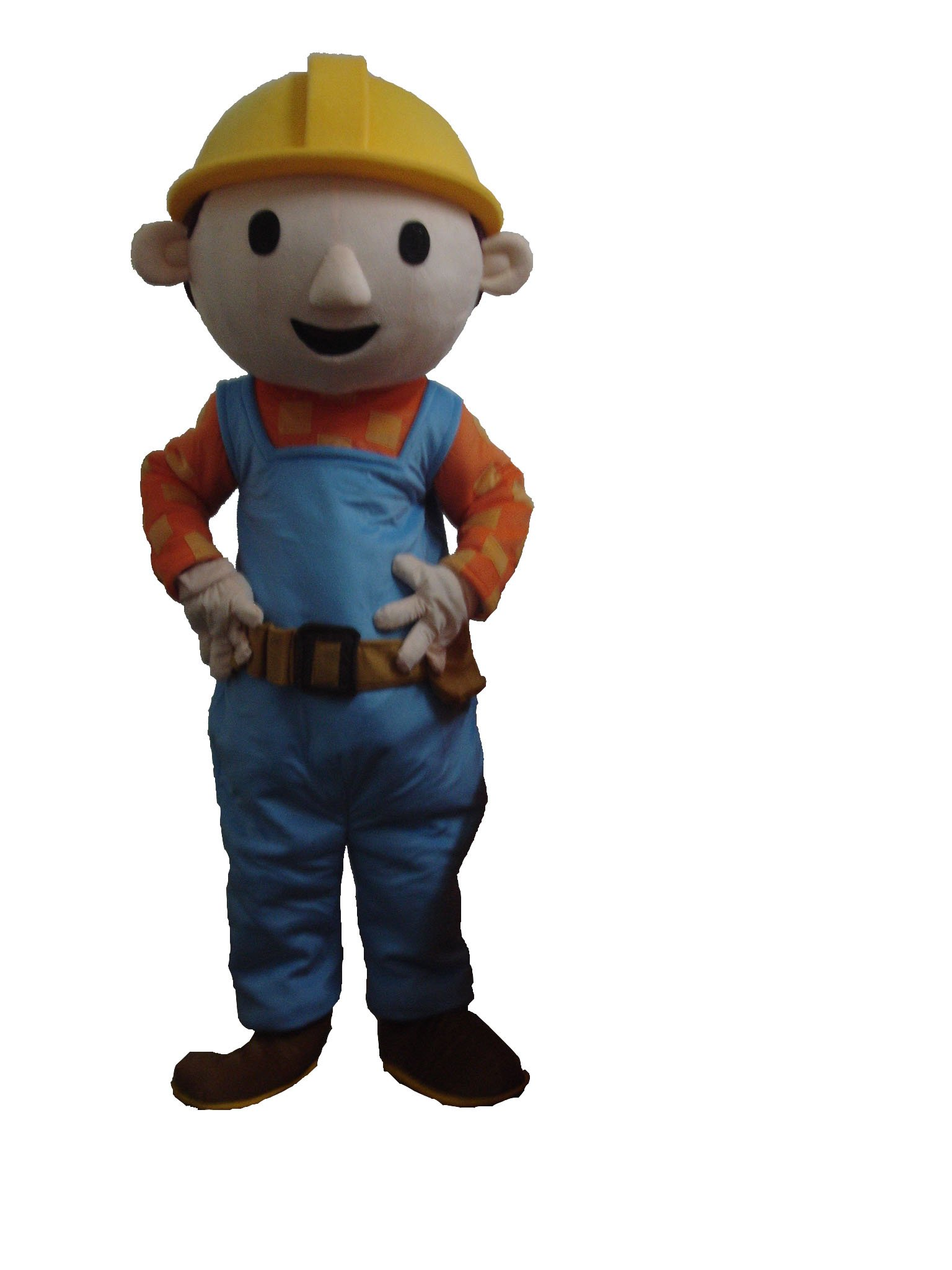 Profession Bob the Builder Mascot Costumes Halloween Cartoon Adult Size