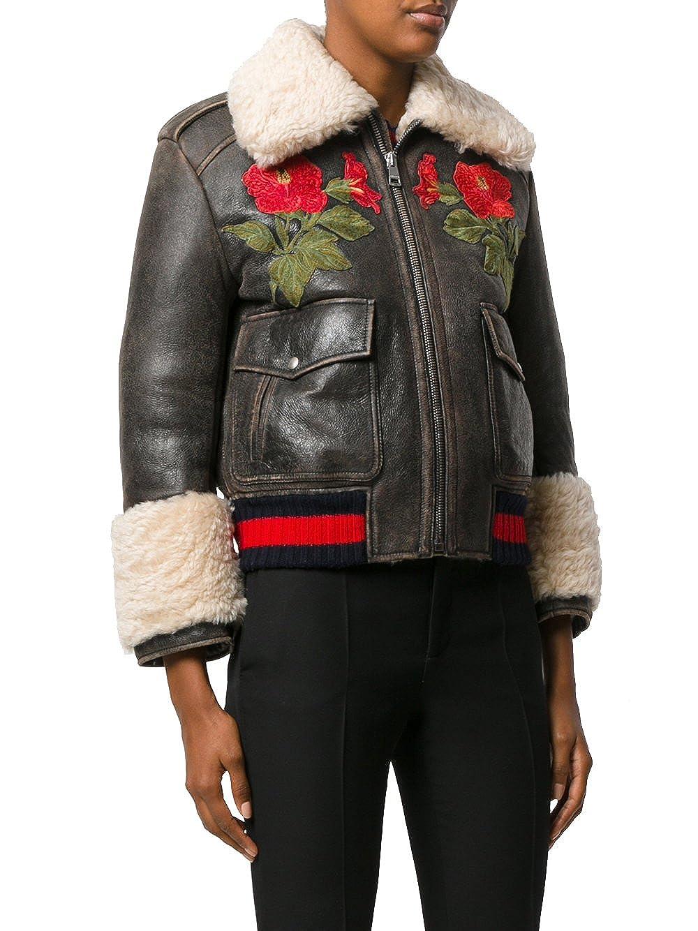 Gucci - Chaqueta - para Mujer marrón 42: Amazon.es: Ropa y ...