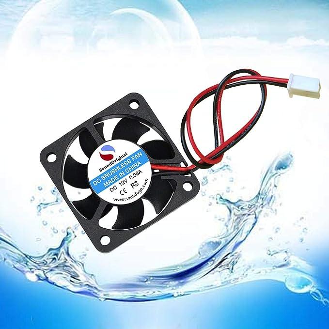 Brushless DC Cooling Fan HIgh-Speed Cooling Fan 12V 7000RPM 6.7CFM 3D Printer Assembly Part 4Pcs