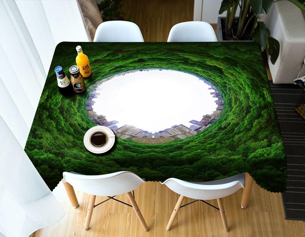Qiao jin Manteles Mantel Rectangular - Mantel Personalizado 3D PG01031 - ecológico y sin Sabor - Impresión Digital Resistente al Agua (Tamaño : Square -228cm228cm)