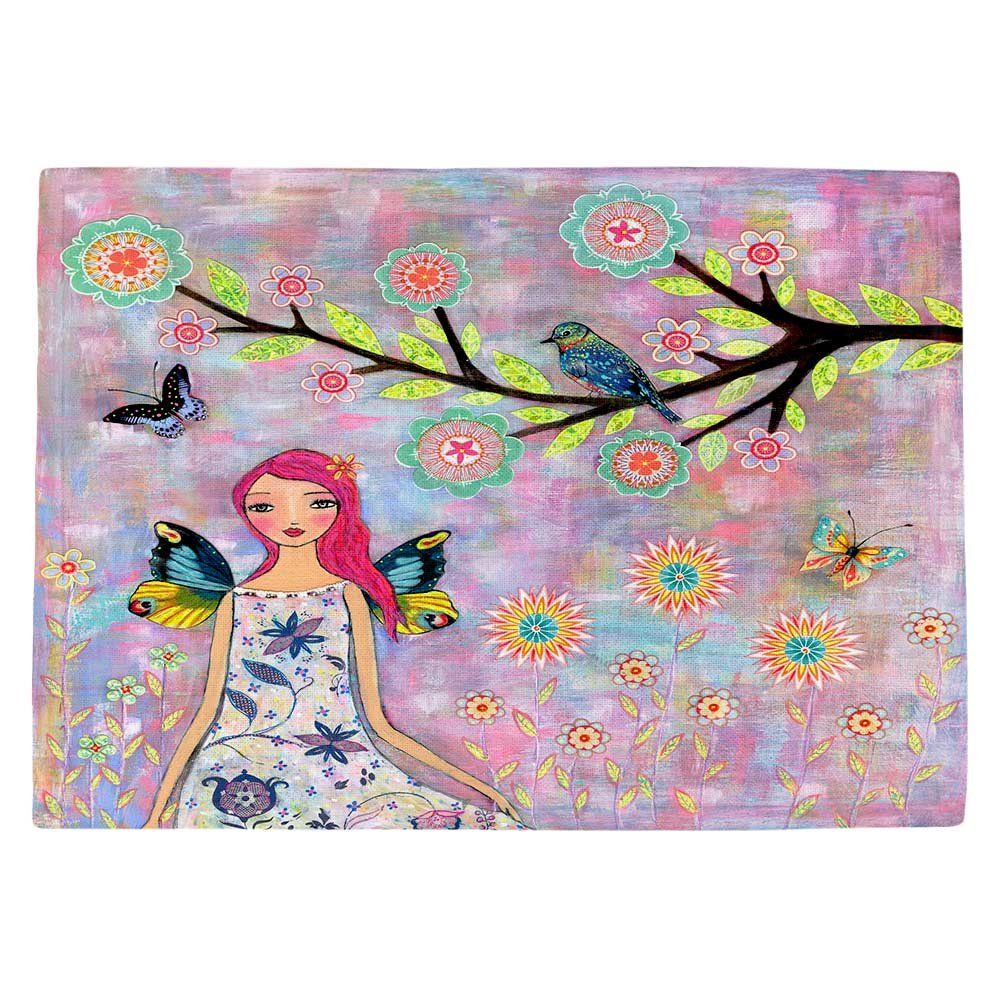 DIANOCHEキッチンPlaceマット、型破り、 – バタフライフェアリー Set of 4 Placemats PM-SascaliaButterflyFairy2 Set of 4 Placemats  B01EXSH2H8
