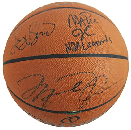 quality design 2a806 e2b2d Michael Jordan, Larry Bird & Magic Johnson Signed Basketball ...