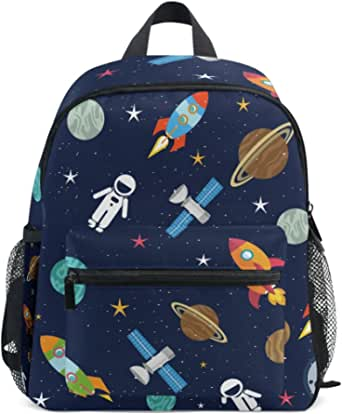 School Bag Retro Cartoon Monster Trucks Pattern Preschool Backpack