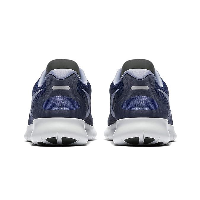 34b65854df90 Amazon.com  Nike Free RN 2017 Binary Blue Dark Sky Blue Obsidian Men s  Running Shoes Size 14  Shoes