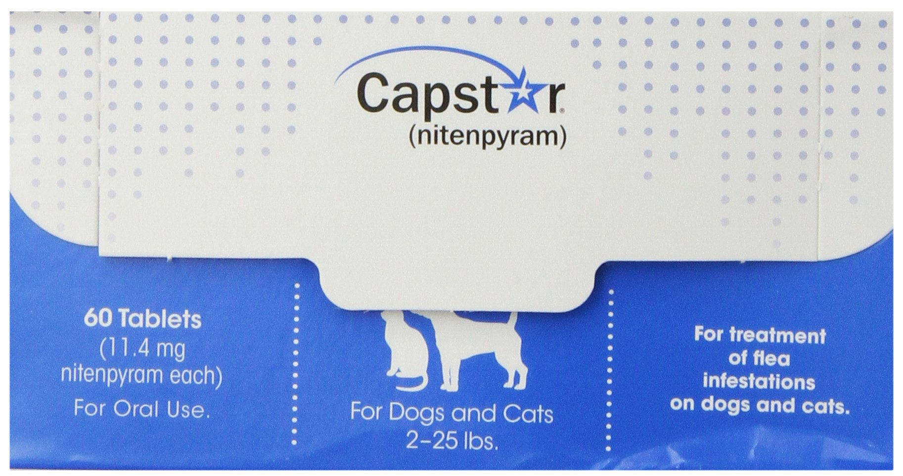 Novartis 60 Count Capstar Bulk Pet Flea Treatment, 2 to 25-Pound, Blue