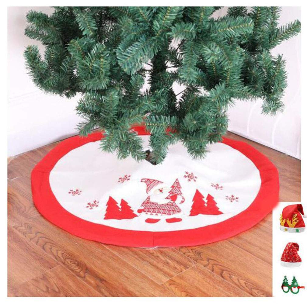 Imcneal Christmas Tree Skirt Mat Xmas Tree Skirt Carpet Ornament Party Decoration 40inch