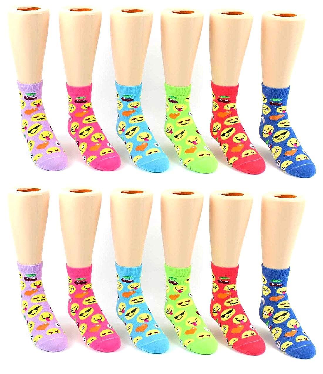 12 Pair Packs Bulk Childrens Styles Boys and Girls Party Socks
