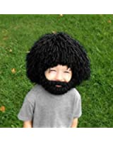 Creazy® Beard Wig Hats Handmade Knit Warm Winter Caps Men Women Kid