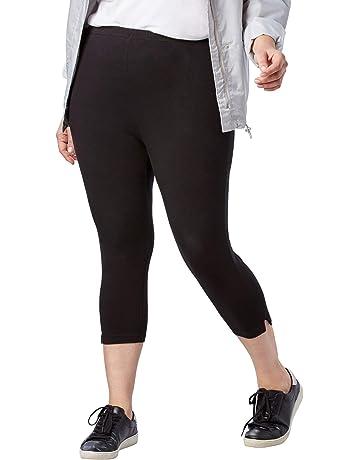 72bb4920f80 Woman Within Women s Plus Size Petite Stretch Cotton Capri Legging