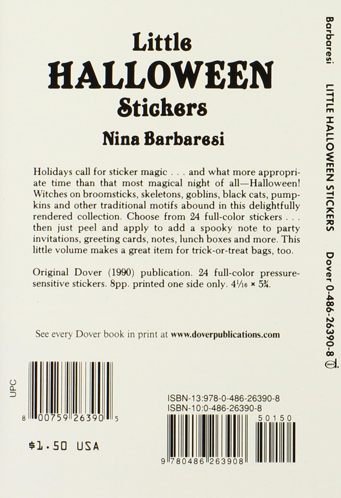 Little Halloween Stickers (Dover Little Activity Books Stickers)