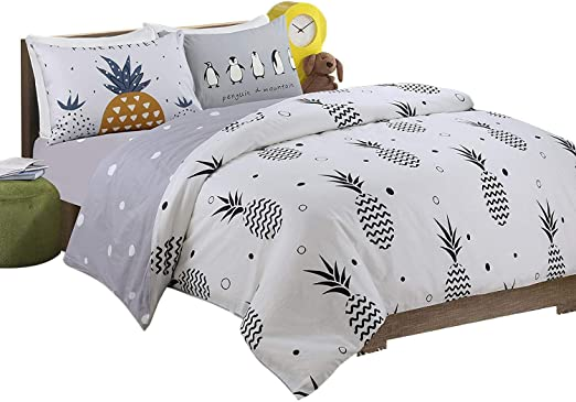 Amazon.com: HNNSI 4 Pieces Pineapple Pattern Kids Bedding Sets