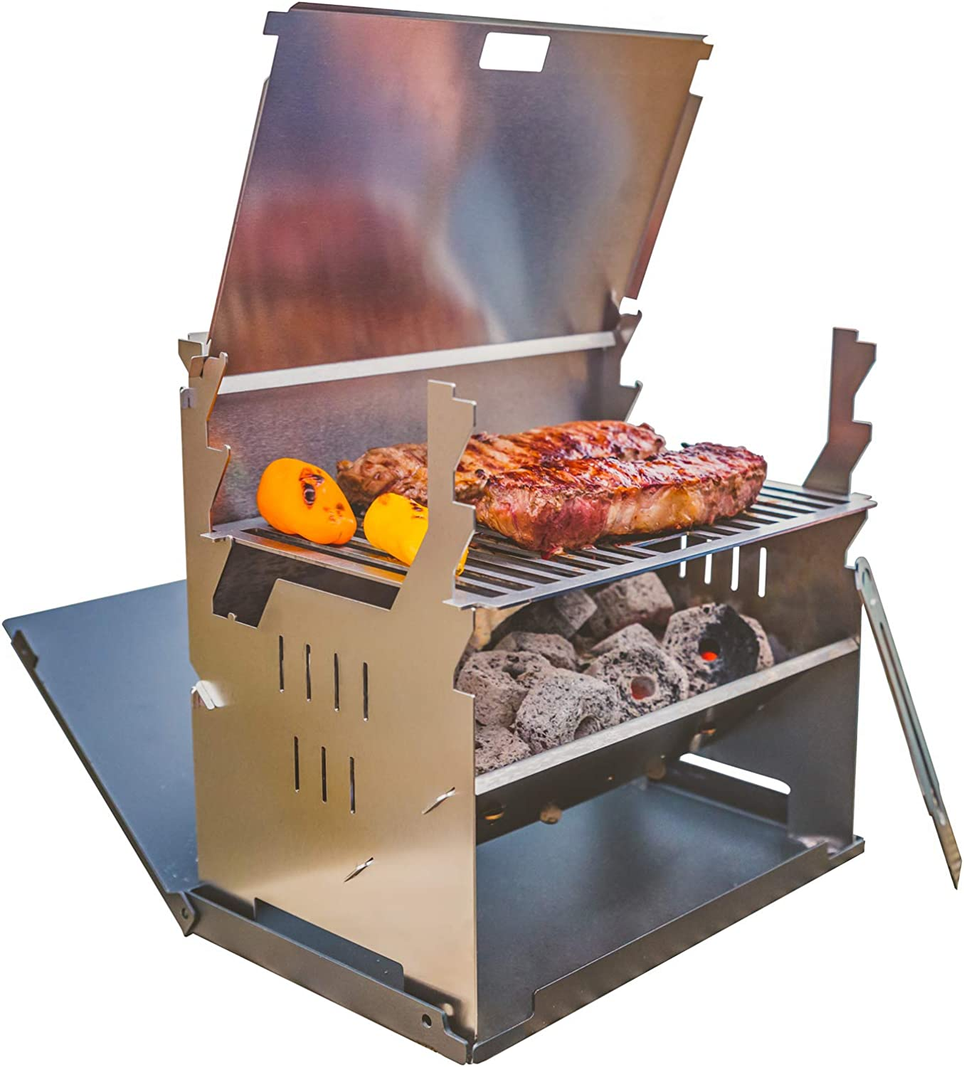 FENNEK GRILL, Tablet Grill, Laptop Grill, Holzkohle Grill, Outdoor Grill, Mobiler Grill, Camping Grill, Picknick Grill, Notebook Grill, Grill to go 1