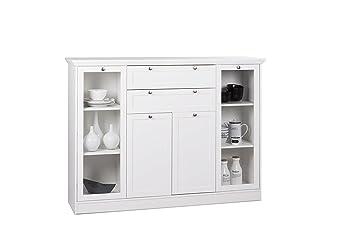 Credenza Moderna Sottile : Rmi bypack cottage moderno credenza bianco in stile rustico 160 x