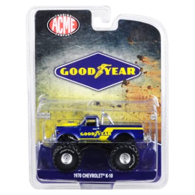 Greenlight 1970 Chevrolet K-10 Goodyear Monster Truck Bigfoot Truck 1/64 Diecast Model Truck Acme Exclusive 51267: Toys & Games [5Bkhe1105104]
