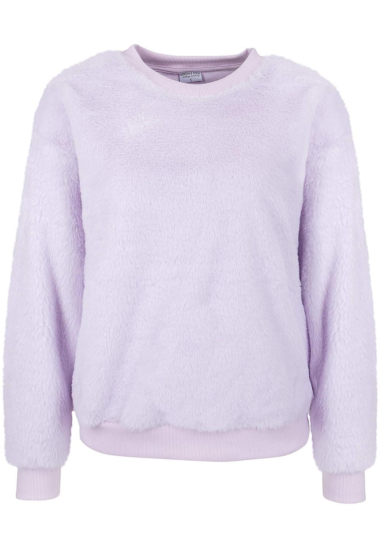 STITCH /& SOUL Damen Pullover aus Chenille Strick Pulli Hoodie mit Kapuze