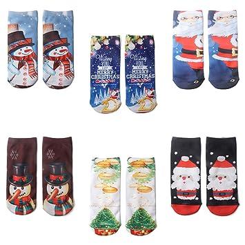 Zoylink 6 Pares Calcetines Divertidos Calcetines De La Novedad Calcetines Impresos Dibujos Animados 3D Calcetines Tobillo