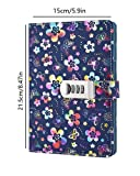 PU Leather Diary with Lock, A5 Size Diary with