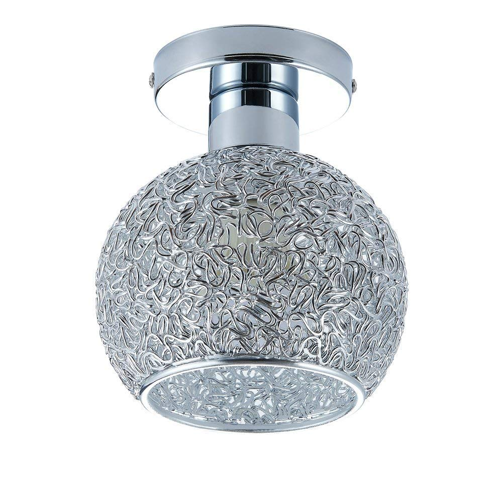 Goeco Mini Modern Chandeliers Creative Aluminum Ceiling Light for Girls Room,Bedroom,Hallway and Closet (Height 7.87'')
