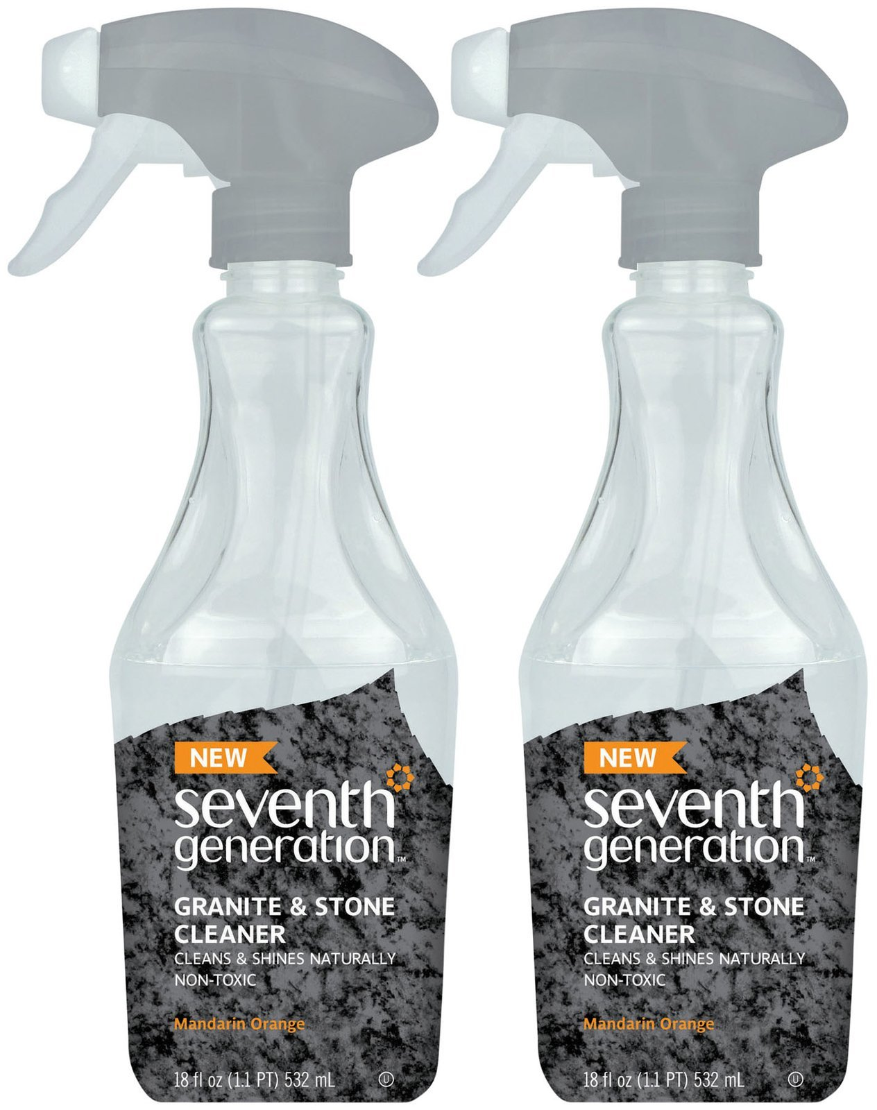 Seventh Generation Granite and Stone Cleaner, Mandarin Orange, 18 Ounces, 2 pk