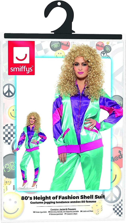 Smiffys Smiffys-43130L Chándal de Tactel superactual años 80 ...