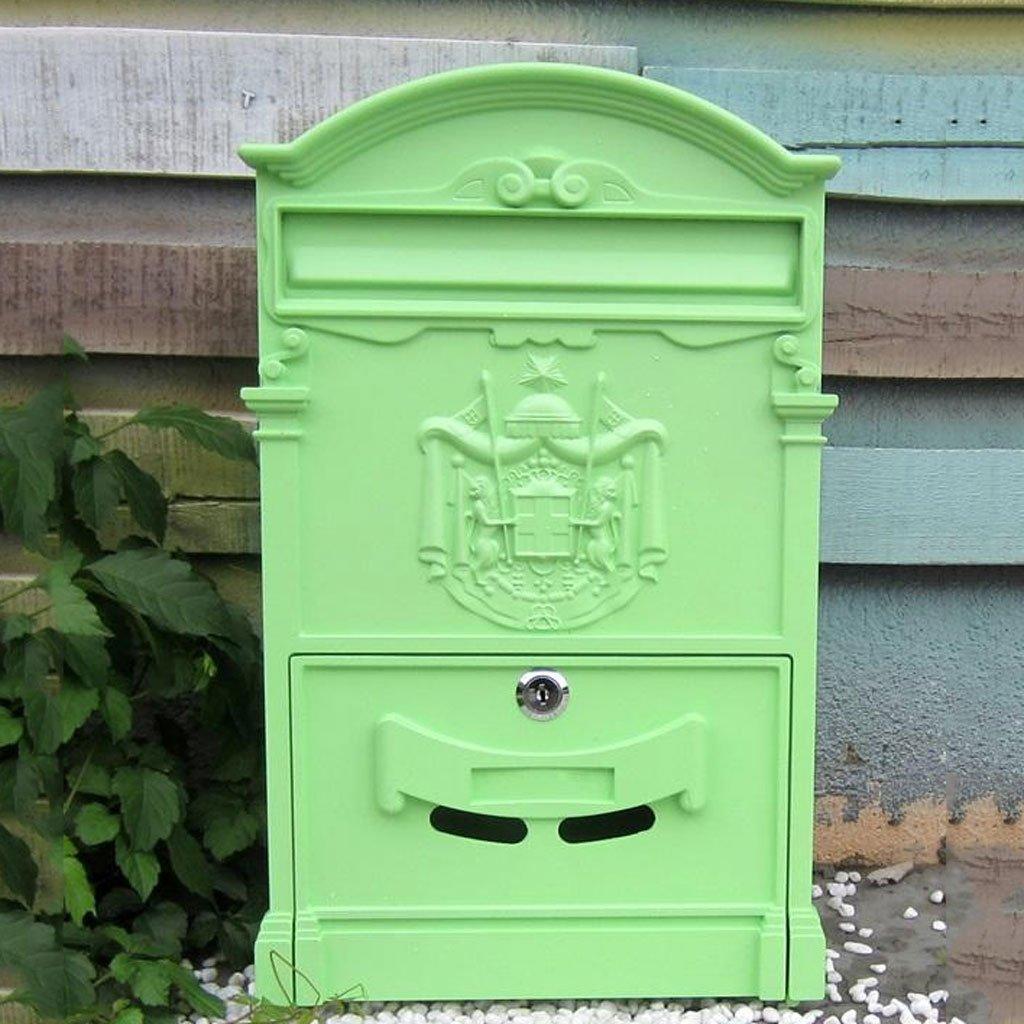 CS ロック戸口の壁の寝室の雨の水のレターボックスと屋外の郵便箱 ( Color : C ) B07BT5G1CV 13569 C C