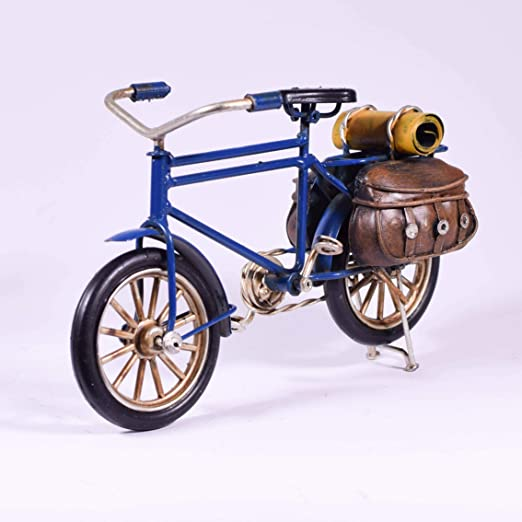 EliteTreasures Retro Metal Blue Bike Miniature - Bicicleta ...