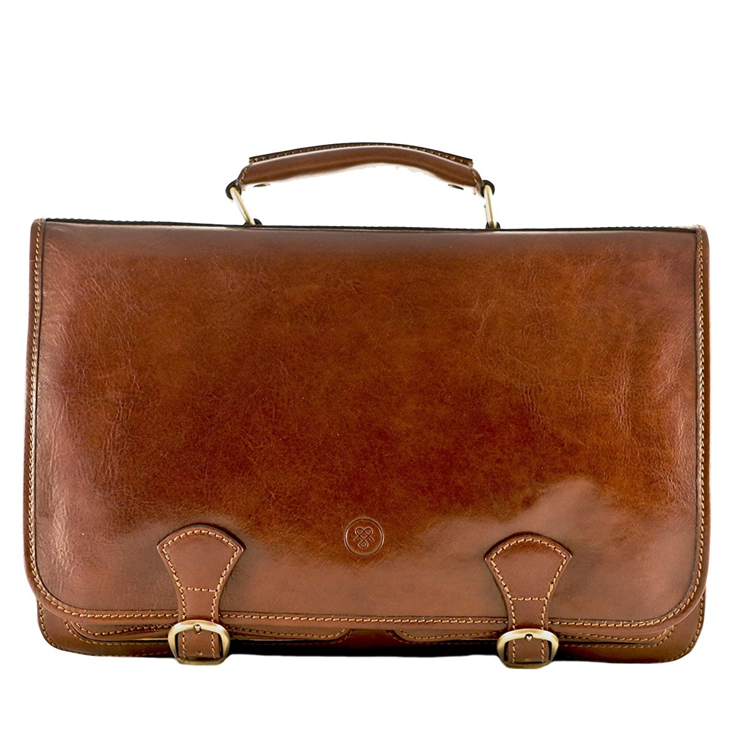 Amazon.com | Maxwell Scott® Luxury Tan Leather Satchel for Men ...