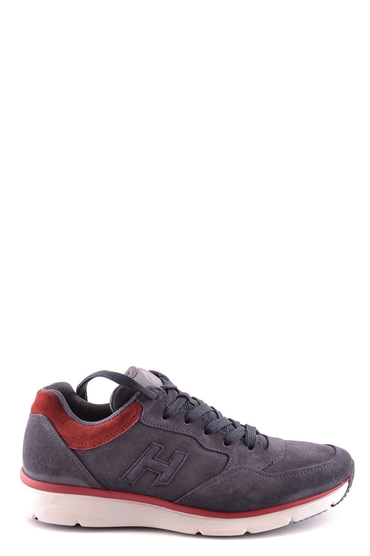 Hogan メンズ MCBI148266O ブルー/ブルゴーニュ セーム 運動靴 B07BBYZS5Z