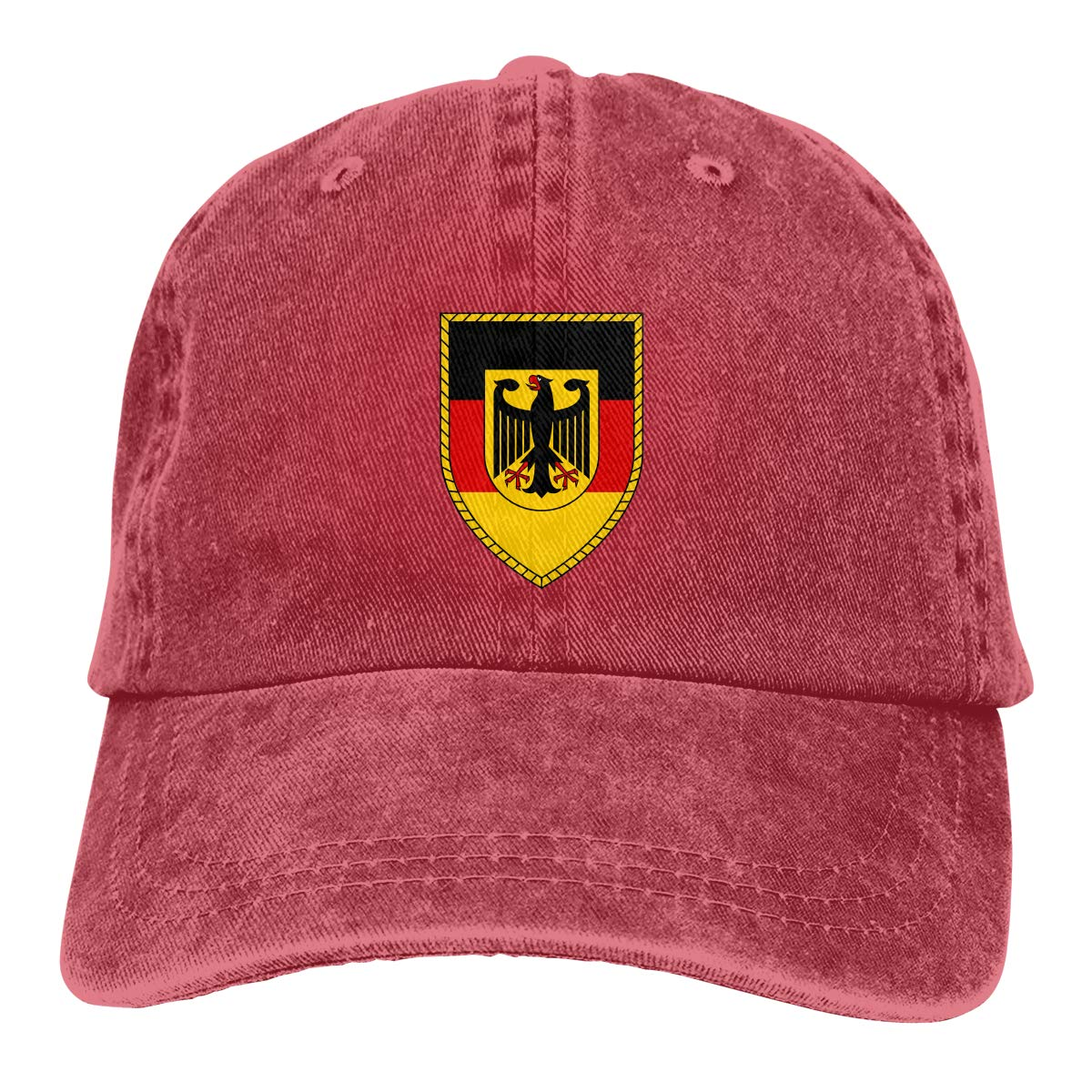 Sajfirlug Bundeswehr Logo with Text Fashion Adjustable Cowboy Cap Denim Hat for Women and Men