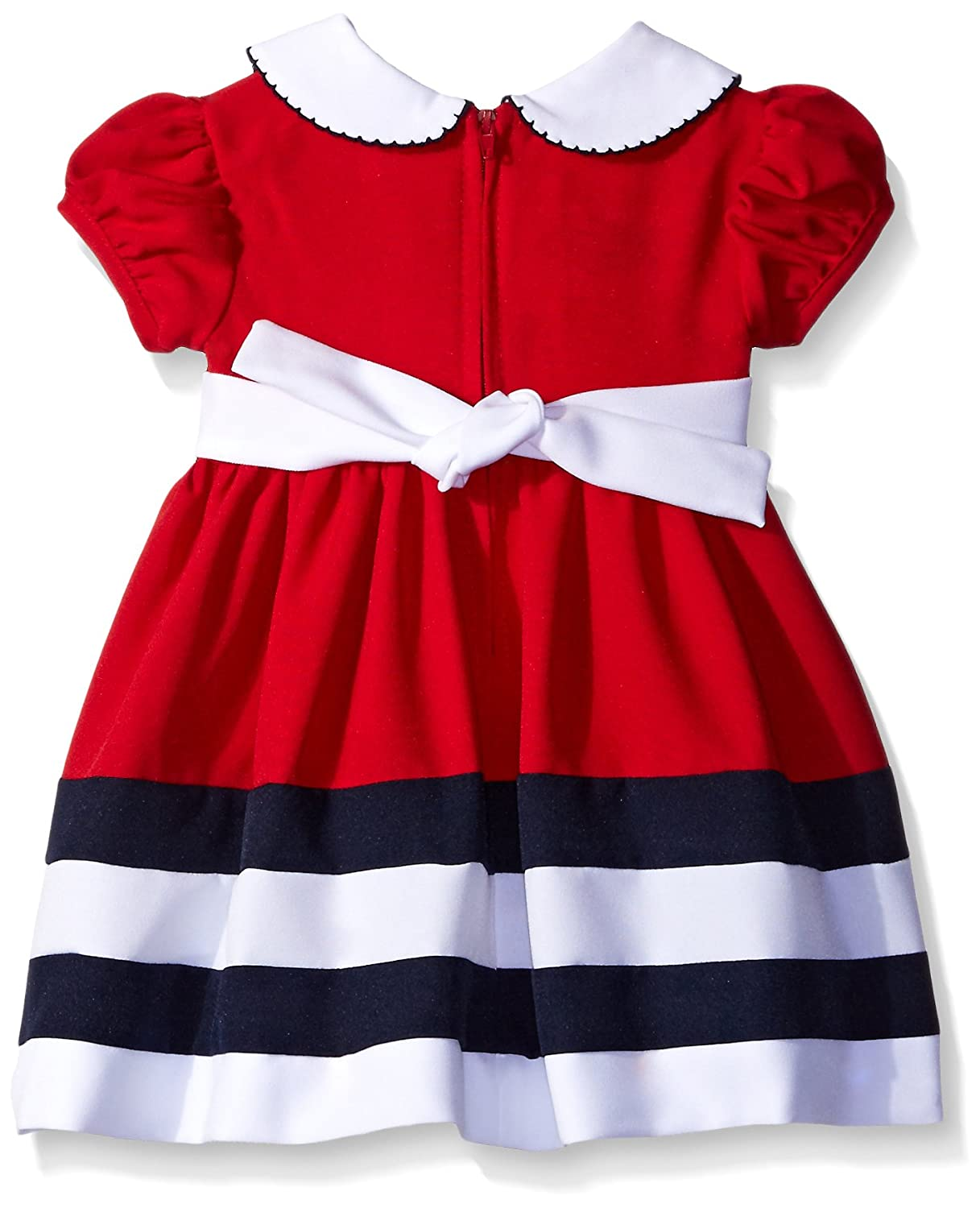 6d9bcbb59d8 Amazon.com  Bonnie Baby Baby Girls  Peter Pan Collar Nautical Dress and  Panty Set  Clothing