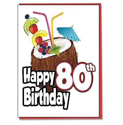 Hawaiian Hula - Tarjeta de felicitación de 80 cumpleaños ...
