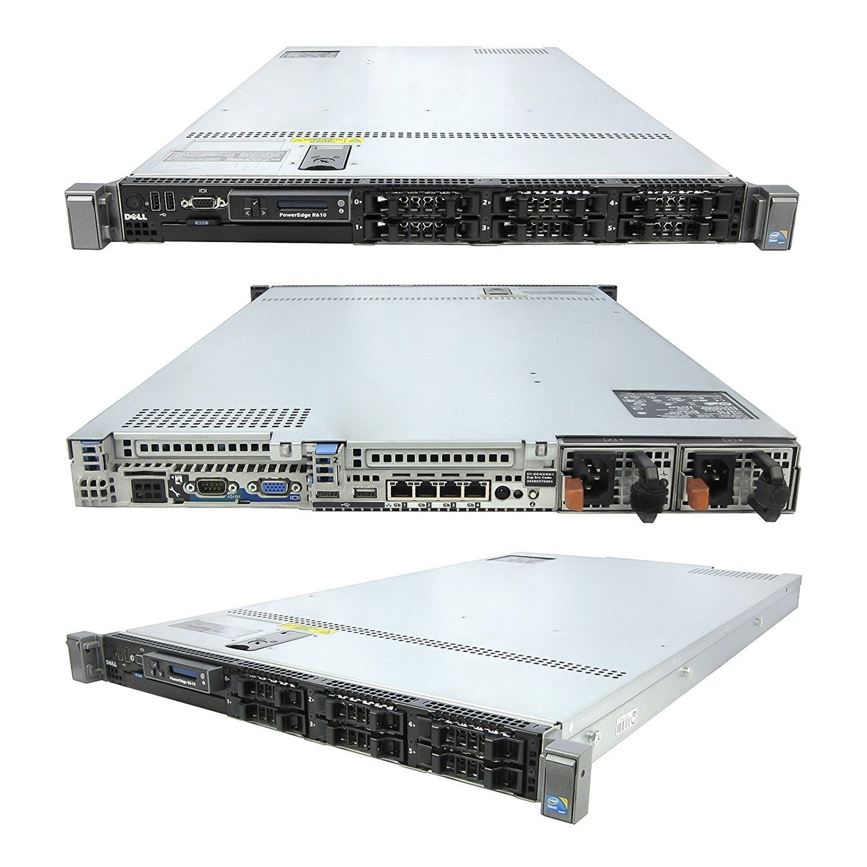 High-End Virtualization 1u Server 12-Core 96GB RAM 1.8TB SSD RAID Dell R610 Rails (Certified Refurbished) by TechMike