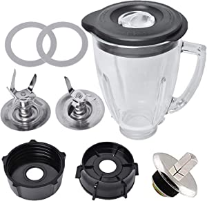 Replacement Parts Compatible with Oster Blender, 6 Cup Glass Blender with Ice Blade,Bottom Cap,Spin,Rubber Gasket Kit for Oster & Osterizer Blender Accessories