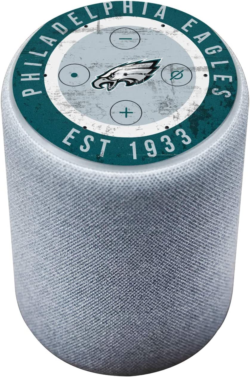 Head Case Designs Officially Licensed NFL Team Colour Distressed Philadelphia Eagles Glossy Vinyl Sticker Skin Decal Cover Compatible with Amazon Echo Plus (2nd Gen)